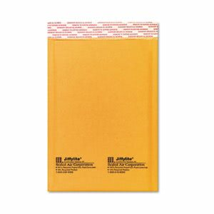 Jiffylite Self-Seal Mailer, Side Seam, 6 x 10 Golden, 10 Mailers SEL16070)