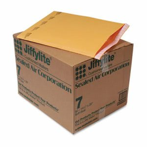 Jiffylite Self-Seal Mailer, Side Seam, #7, Brown, 50 per Carton (SEL39098)