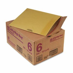 Sealed Air Jiffy Rigi Bag Mailer, Side Seam, Brown, 100 per Carton (SEL49395)