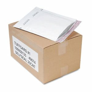 Sealed Air Self-Seal Cushioned Mailer, 7 1/4 x 12, White, 25/Carton (SEL49674)