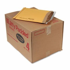 Sealed Padded Self-Seal Mailer, #4, 9 1/2 x 14 1/2, Brown, 100/Carton (SEL85985)