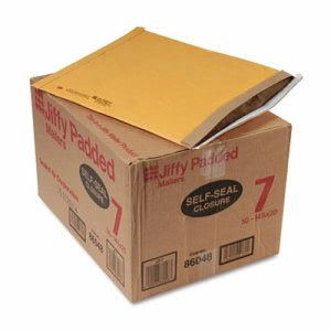 Sealed Padded Self-Seal Mailer, #7, 14 1/4 x 20, Brown, 50 per Carton (SEL86048)
