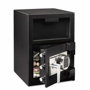 Sentry Safe Depository Safe, 1.3 ft3, 14w x 15-3/5d x 24h, Black (SENDH109E)