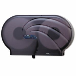 San Jamar R4090 Oceans Twin Jumbo Roll Jr. Toilet Paper Dispenser (SAN R4090TBK)