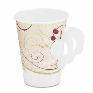 Symphony 8-oz. Paper Hot Cup with Handle, 1,000 Cups (SCC 378HSMSYM)