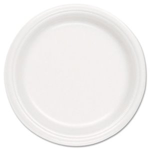 Basix® Foam Dinnerware, 9in Diameter Dinner Plate (SCC FS9DPY)