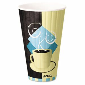 Solo Cup Duo Shield Hot Insulated 20 oz Paper Cups, Beige, 350/CT (SCCIC20J7534)