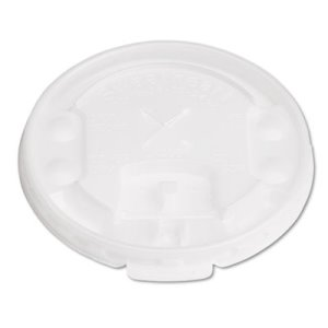 Trophy Flat Lift & Lock Tab Lid with Straw Slot, 2,000 Lids (SCC LX2SBR)