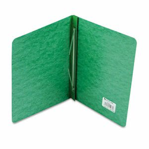 "Acco Pressboard Report Cover, Prong Clip, Letter, 3"" Capacity, Green (ACC25976)"