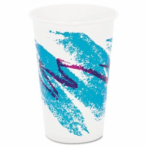 Solo Jazz 16-oz. Wax-Coated Paper Cold Cup, 1,000 Cups (SCC RW16J)