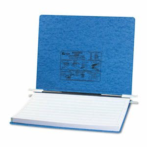 Acco Pressboard Hanging Data Binder, 14-7/8 x 11 Sheets, Light Blue (ACC54072)
