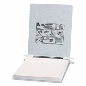 Acco Hanging Data Binder, 9-1/2 x 11 Unburst Sheets, Light Gray (ACC54114)