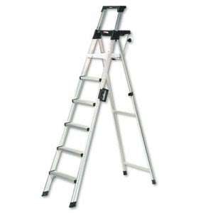 Cosco 8-Foot Lightweight Folding Step Ladder w/Leg Lock & Handle, 300lb(CSC2081AABLD)