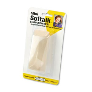 Softalk Mini Softalk Telephone Shoulder Rest, 4-1/2 Long x 1-3/4w x 2h, Ivory (SOF305)