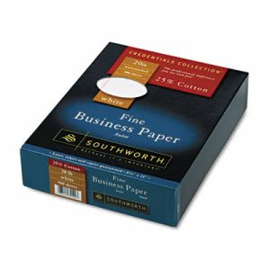 Southworth Cotton Paper, White w/Red Rules, Wove, 500 per Box (SOU403CR)
