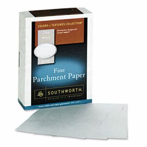 Southworth Parchment Specialty Paper, Gray, 24 lbs., 500 per Box (SOU974C)