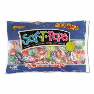 Saf-t-pops Saf-T-Pops, Assorted Flavors, Individually Wrapped, 200/Pack (SPA182)