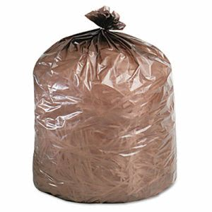 10 Gallon Brown Garbage Bags, 24x23, 0.35mil, 500 Bags (ESXEPM24BRN)