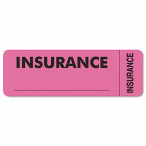 Tabbies Medical Labels for Insurance, 1 x 3, Pink, 250/Roll (TAB06420)