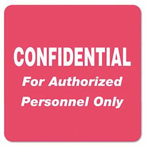 Tabbies Medical Labels for Confidential, 2 x 2, Red, 500/Roll (TAB40570)