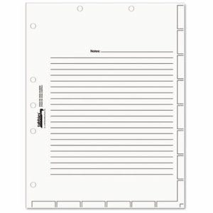 Tabbies Medical Chart White Index Divider Sheets, 8-1/2 x 11, 400/BX (TAB54520)