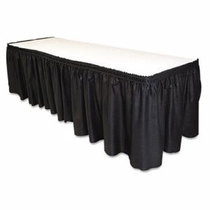 "Tablemate Table Set Table Skirting, 29"" x 14', Black (TBLLS2914BK)"