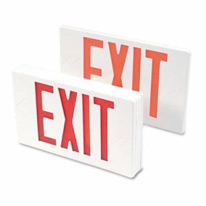 Tatco LED Exit Sign, Polycarbonate, 12 1/4 x 2 1/2 x 8 3/4, White (TCO07230)