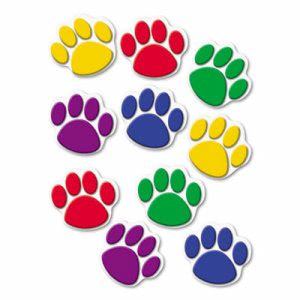 Teacher Created Resources Paw Print Accents, Assorted Colors (TCR4114)