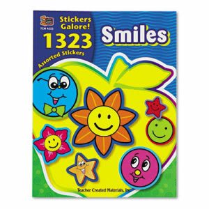 Teacher Created Resources Sticker Book, Smiles, 1,323/Pack (TCR4223)