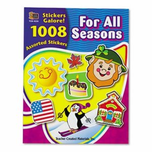 Teacher Created Resources Sticker Book, For All Seasons, 1,008/Pack (TCR4224)