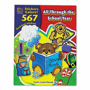 Teacher Created Resources Sticker Book, All Through the School Year (TCR4229)
