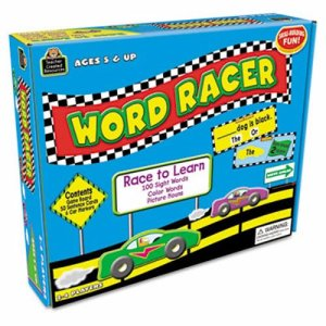 Teacher Created Resources Word Racer Game, Ages 5 and Up, 2-4 Players (TCR7811)