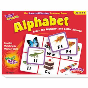 Trend Alphabet Match Me Puzzle Game, Ages 4-7, 1 Each (TEPT58101)