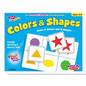 Trend Colors and Shapes Match Me Puzzle Game, Ages 4-7 (TEP58103)