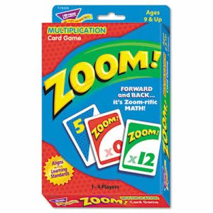 Trend Zoom Math/Manipulatives Card Game, Ages 9 and Up, Each (TEPT76304)