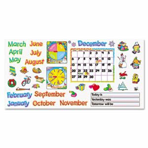 "Trend Monthly Calendar (with Cling) Bulletin Board Set, 22"" x 17"" (TEPT8302)"