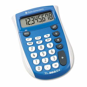 Texas Instruments TI-503SV Pocket Calculator, 8-Digit LCD (TEXTI503SV)