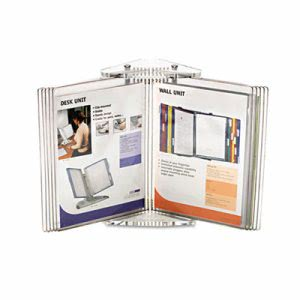Tarifold Crystal Desk Reference Display System, 10 Pockets, Clear (CD271)