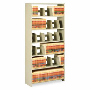 Tennsco Snap-Together Open Shelving Steel 6-Shelf Closed Starter Set, Sand (TNN1276PCSD)
