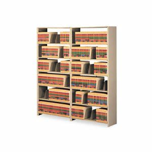 Tennsco Snap-Together Open Shelving Steel 7-Shelf Closed Starter Set, Sand (TNN128848PCSD)