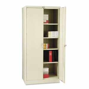 "Tennsco 78"" High Deluxe Cabinet, 36w x 24d x 78h, Putty (TNN2470PY)"