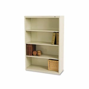 Tennsco Metal Bookcase, 4 Shelves, Putty (TNNB53PY)