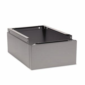 Tennsco Optional Locker Base, 12w x 18d x 6h, Medium Gray (TNNCLB1218MG)