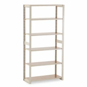 Tennsco Shelving Add-On Unit, 6 Shelves, 36w x 15d x 76h, Sand (TNNRGL1536ASD)