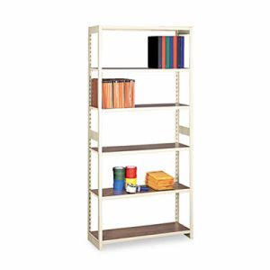 Tennsco Shelving Starter Set, 6 Shelves, 36w x 15d x 76h, Sand (TNNRGL1536SSD)