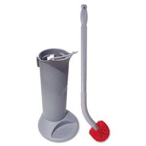 Ergo Toilet Bowl Brush System with Holder, Gray, Plastic, Each (UNG BBWHR)