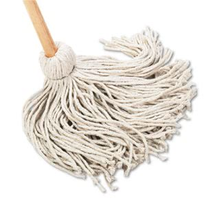 Boardwalk 20-oz. Cotton Deck Mops with Handle, 6 Mops/Carton (BWK120C)