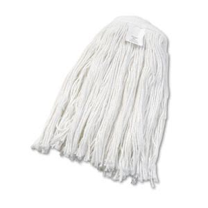 Boardwalk Cut-End Wet Mop Head, Rayon, No. 24, White, 12/Carton (BWK2024RCT)