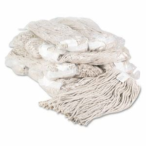 Unisan Premium Cut-End Wet Mop Heads, Cotton, 20oz, White, 12/Carton (UNS220CCT)