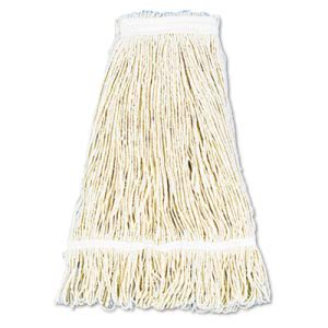 Boardwalk Pro Loop Web 24-oz Wet Mop Head, Cotton, 12 Mop Heads (BWK424CCT)